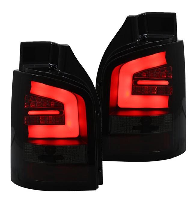 Smoked red led lightbar tube rear back lights t5 t51 transporter red smoked light bar led rear lights vw t5 t51 2010 2015 aloadofball Images