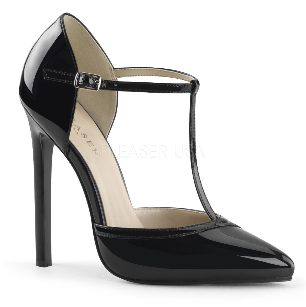 free shipping san francisco price reduced PLEASER 5-5 1/4 SEXY 27 HIGH HEEL STILETTO T BAR D'ORSAY COURT ...