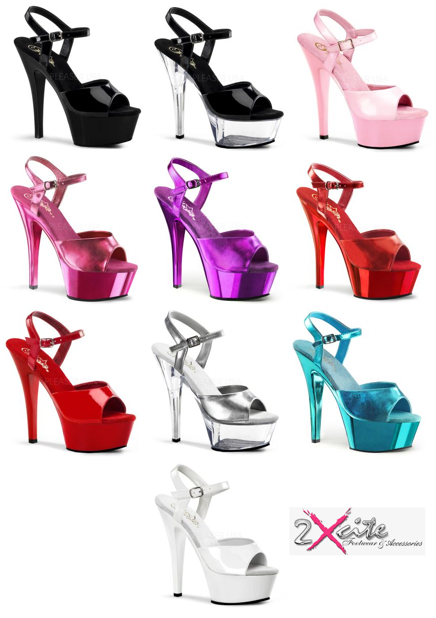 4f4ff6190a0f Details about PLEASER KISS 209 PLATFORM HIGH HEEL POLE DANCING LAP DANCER  SHOES SIZES 3-11