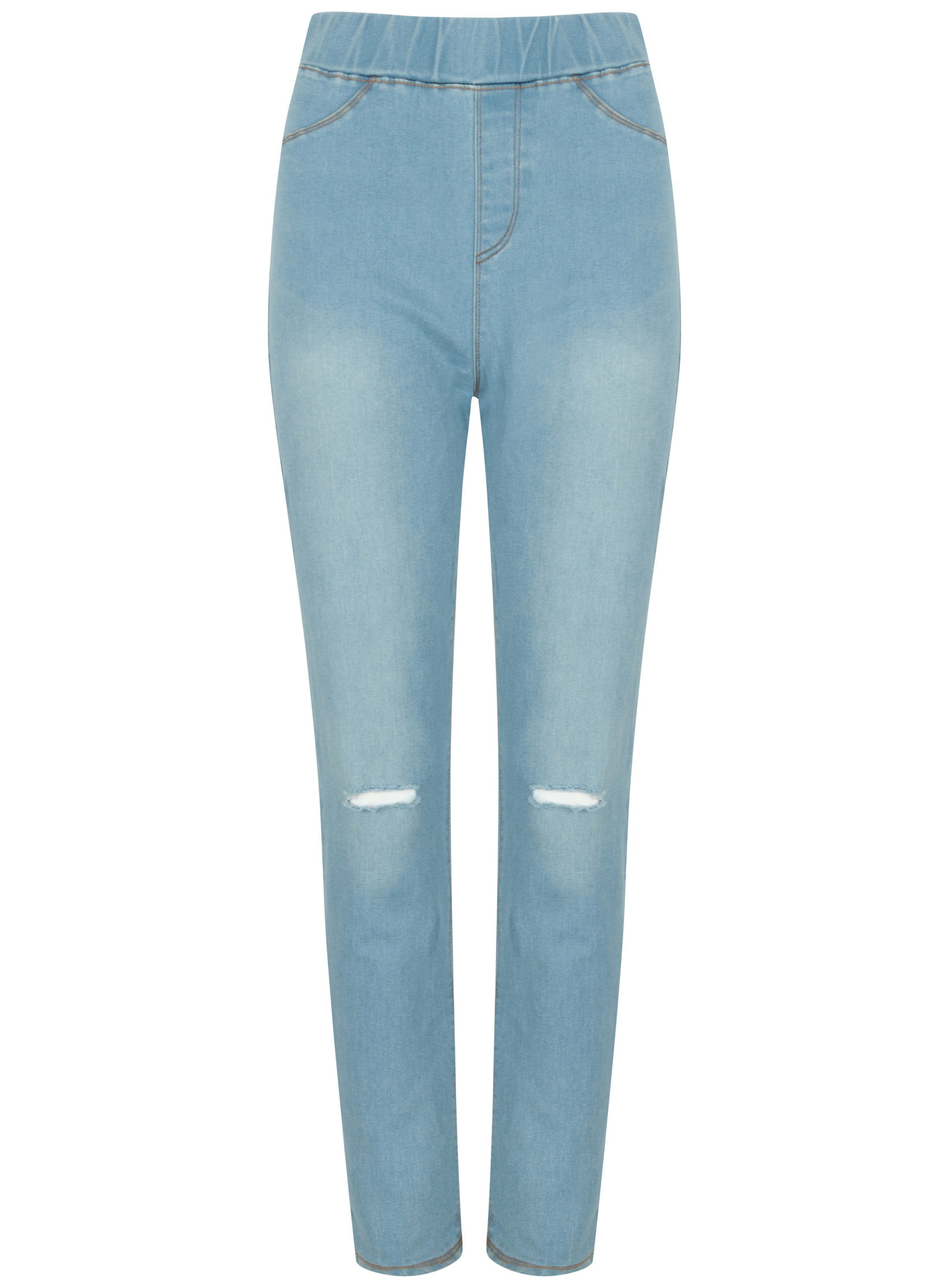 Mens Ex Store Slim Fit Ripped Jeans Stonewash Black Stretch
