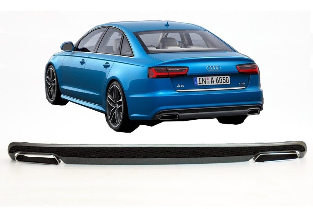 s line look rear bumper diffuser audi a6 c7 4g with. Black Bedroom Furniture Sets. Home Design Ideas