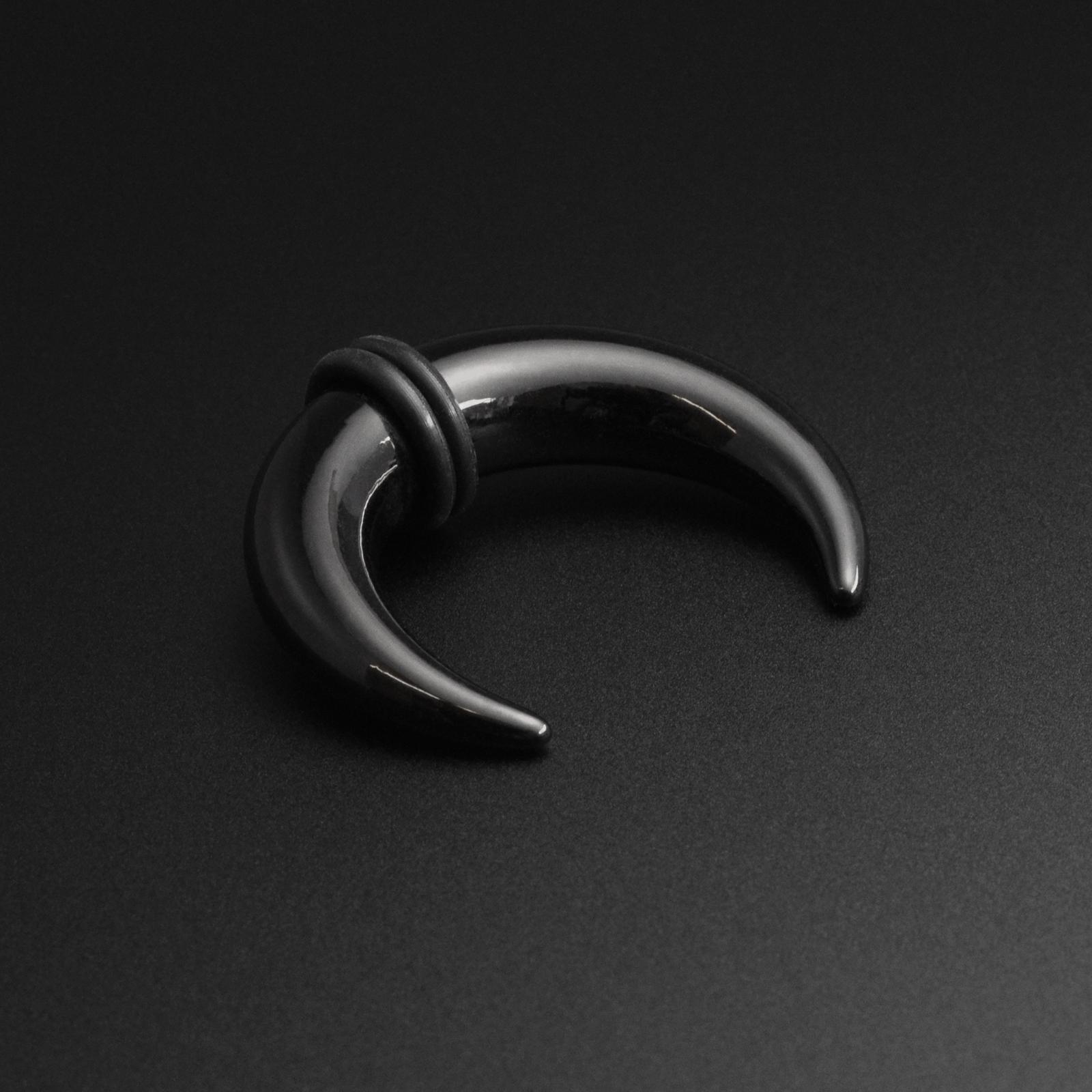 Ear Pincher Septum Stretching KitBlack Acrylic Crescent Stretcher 1.6mm-10mm