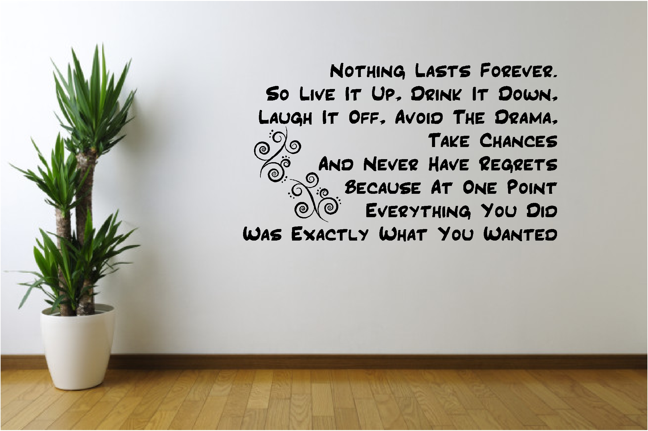 """NOTHING LASTS FOREVER MARILYN MONROE Wall Decal Vinyl Quote Lettering Words 24/"""""""