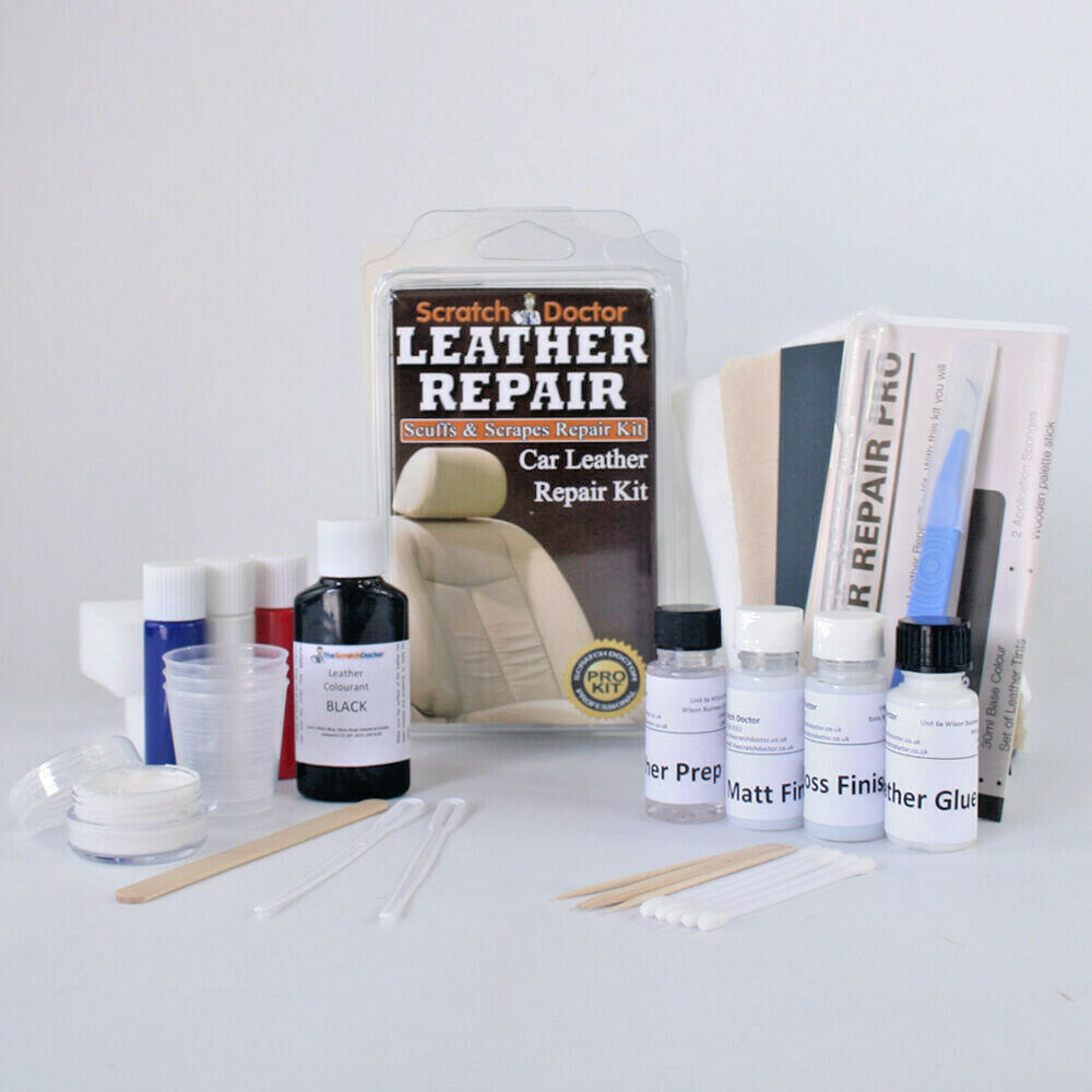 Leather Repair Kit For All Car Interior Etc Fix Tear Scratch Scuffs Holes Ebay