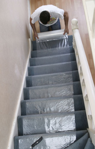 Marvelous Carpet U0026 Stair Floor Temporary Protection Protector Film Cover  Select Your  Size