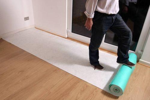 Hard Floor Protection Self Adhesive Fleece Roll Wood