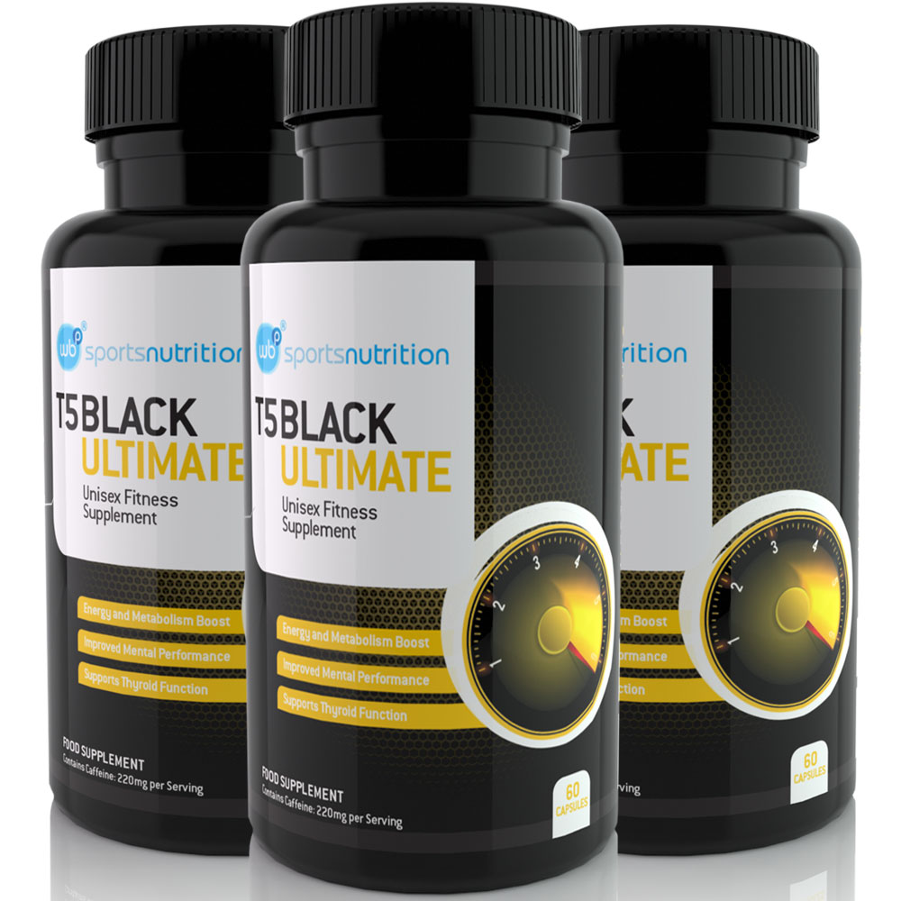 T5 Black Ultimate Strongest Fat Burner Diet Capsules